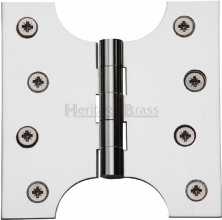 "M Marcus Heritage Brass HG99-385-PC  Brass Parliament Hinge  4"" X 2"" X 4"" Polished Chrome"